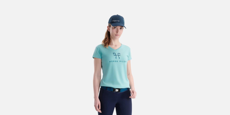 Horse Pilot Team T-shirt dame