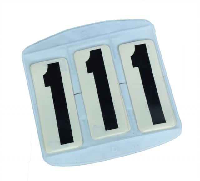Stevnenummer til schabrak m/borrelås