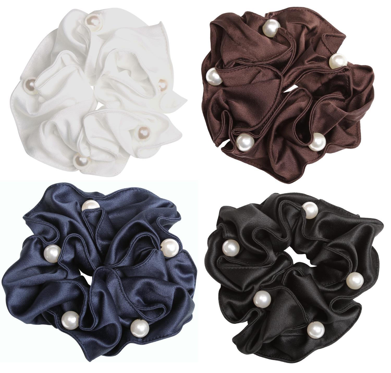 SD-Design satin/perle scrunchie